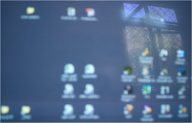 desktop see-through: freedom