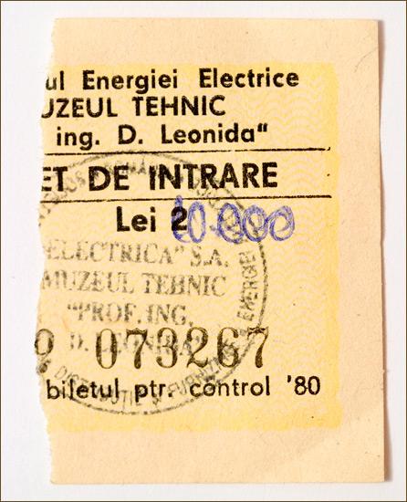 leonida. bilet de intrare.