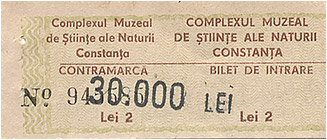 bilet acvariu constanta