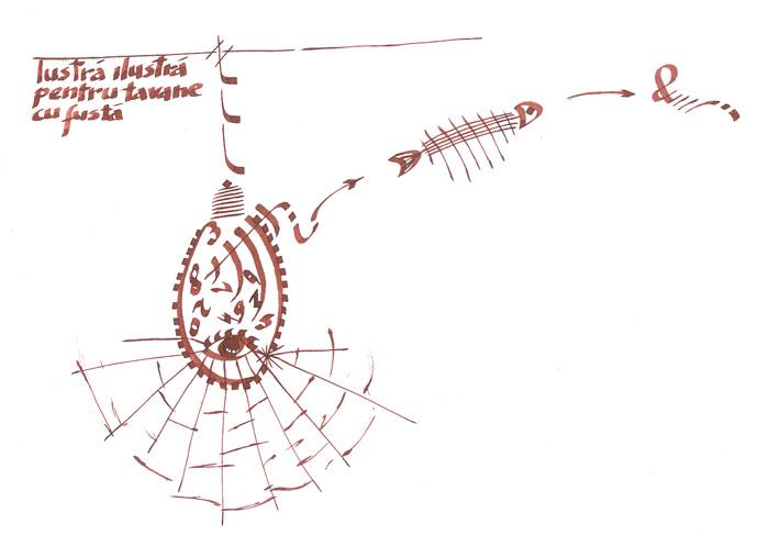 lustra ilustra pentru tavane cu fusta