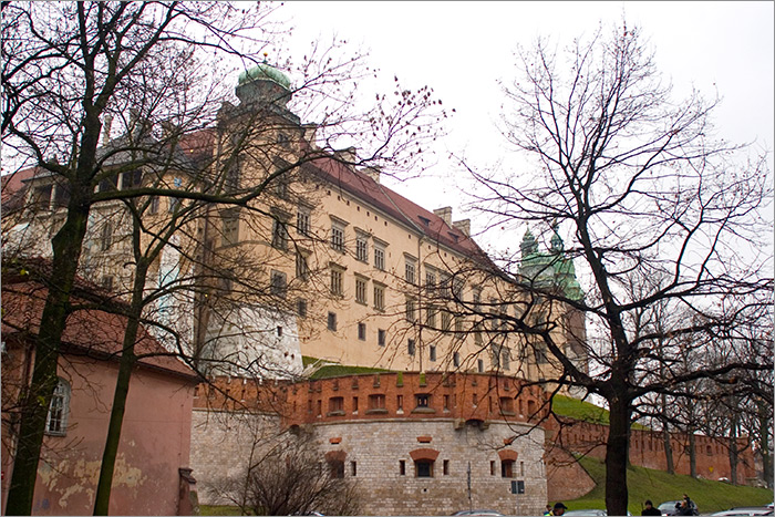 the back of Wawel Royal Castle