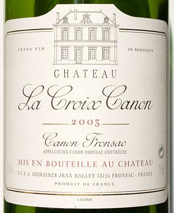 La Croix Canon/Canon Fronsac/2003