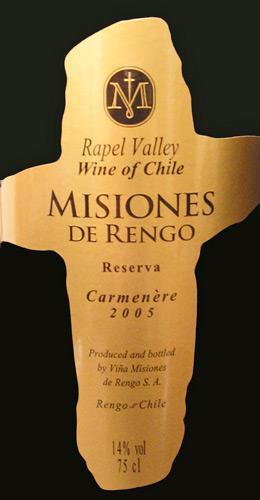 Carmenere/Misiones de Rengo/2005