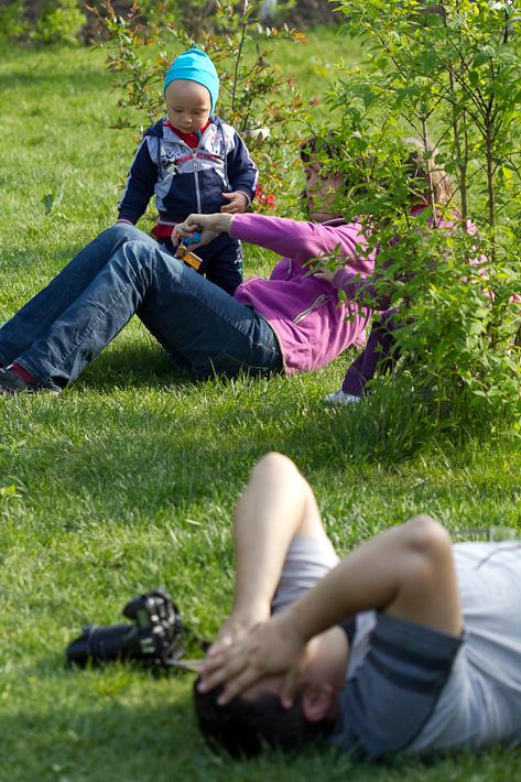 in iarba :-)